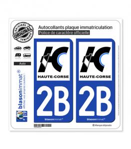 2B Haute-Corse - Département | Autocollant plaque immatriculation