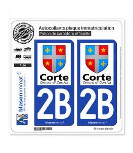 2B Corte - Ville | Autocollant plaque immatriculation