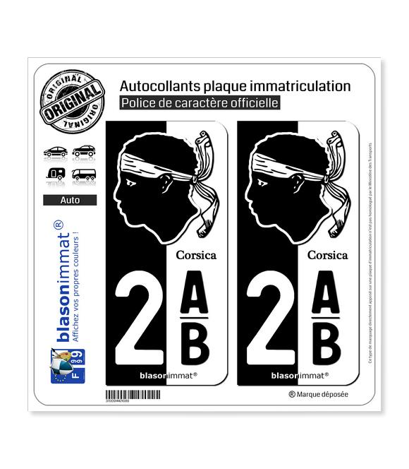 2AB Corsica - Collector | Autocollant plaque immatriculation