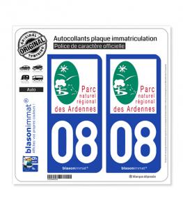 08 Ardennes - Parc Naturel Régional | Autocollant plaque immatriculation