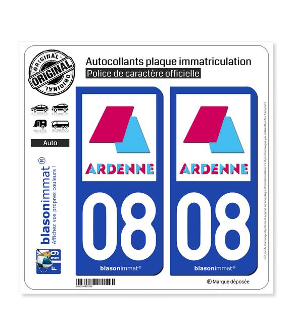 08 Charleville-Mézières - Agglo | Autocollant plaque immatriculation
