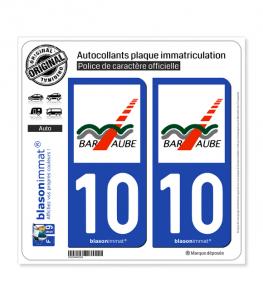 10 Bar-sur-Aube - Agglo | Autocollant plaque immatriculation