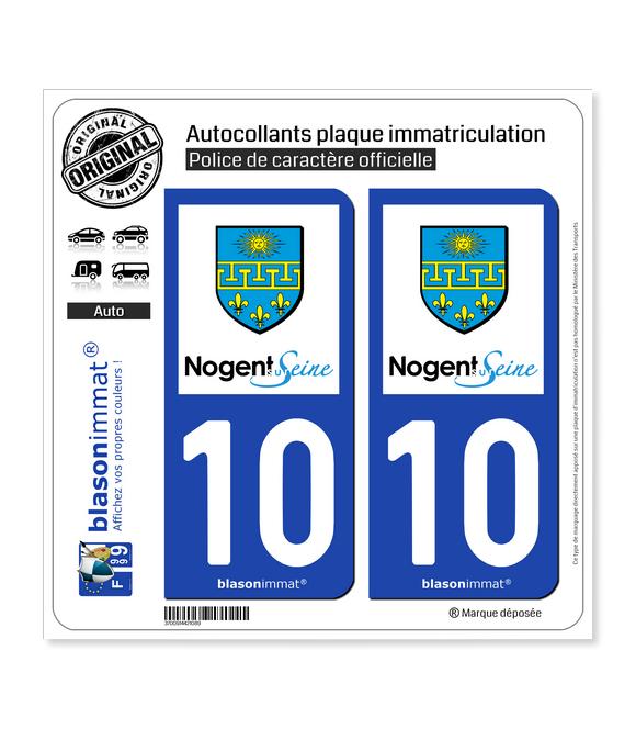 10 Nogent-sur-Seine - Ville | Autocollant plaque immatriculation