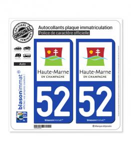 52 Haute-Marne - Tourisme | Autocollant plaque immatriculation