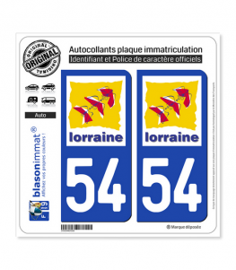54 Lorraine - LogoType | Autocollant plaque immatriculation