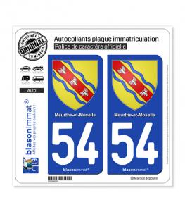 54 Meurthe-et-Moselle - Armoiries | Autocollant plaque immatriculation