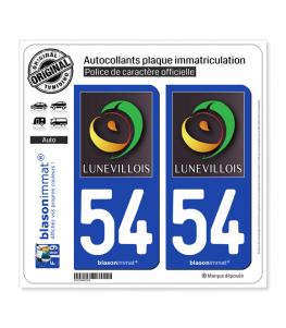 54 Lunéville - Tourisme | Autocollant plaque immatriculation