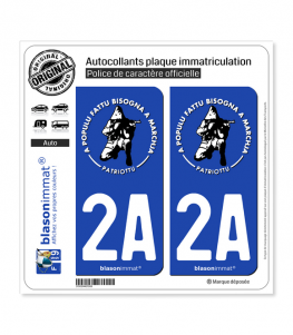 2A Ribellu Corse - Patriottu | Autocollant plaque immatriculation