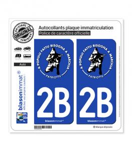 2B Ribellu Corse - Patriottu | Autocollant plaque immatriculation