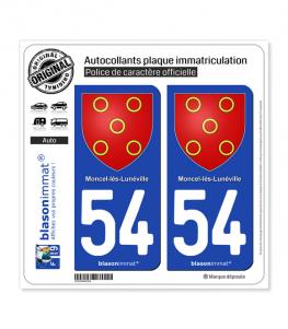54 Moncel-lès-Lunéville - Armoiries | Autocollant plaque immatriculation