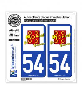 54 Moncel-lès-Lunéville - Commune | Autocollant plaque immatriculation
