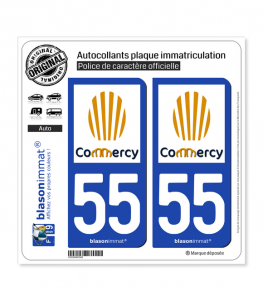 55 Commercy - Ville | Autocollant plaque immatriculation