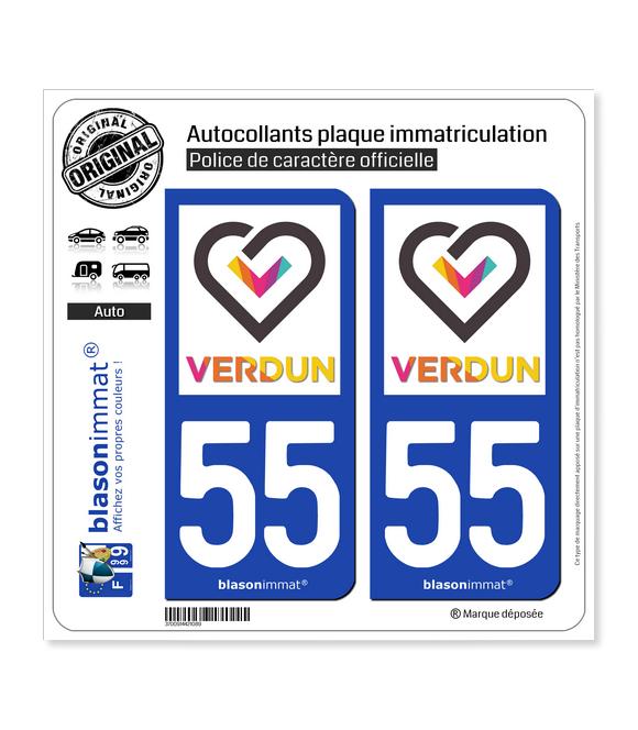 55 Verdun - Tourisme | Autocollant plaque immatriculation