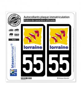 55 Lorraine - LogoType | Autocollant plaque immatriculation