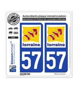 57 Lorraine - LogoType | Autocollant plaque immatriculation