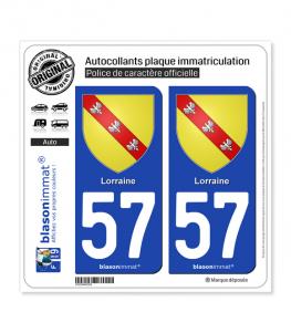 57 Lorraine - Armoiries | Autocollant plaque immatriculation