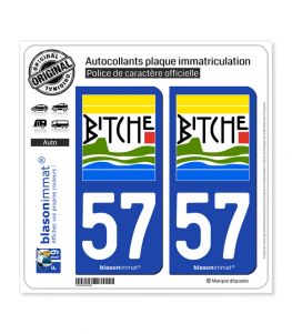 57 Bitche - Commune | Autocollant plaque immatriculation
