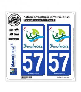 57 Château-Salins - Agglo | Autocollant plaque immatriculation