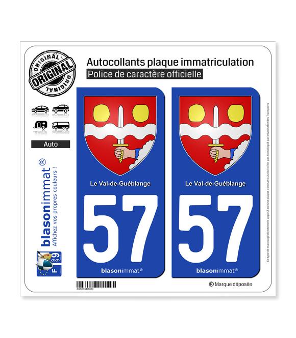 57 Le Val-de-Guéblange - Armoiries | Autocollant plaque immatriculation