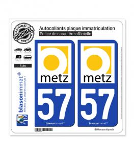 57 Metz - Tourisme | Autocollant plaque immatriculation
