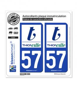 57 Thionville - Ville   Autocollant plaque immatriculation