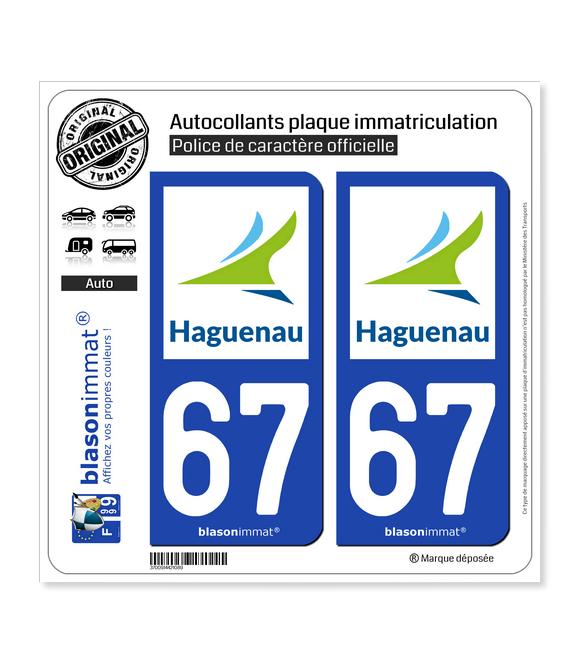 67 Haguenau - Agglo | Autocollant plaque immatriculation