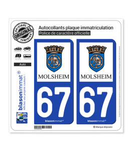 67 Molsheim - Ville | Autocollant plaque immatriculation