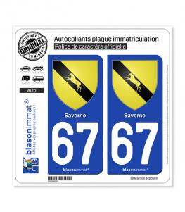 67 Saverne - Armoiries | Autocollant plaque immatriculation