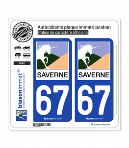 67 Saverne - Ville | Autocollant plaque immatriculation