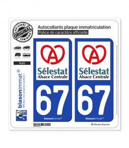 67 Sélestat - Ville | Autocollant plaque immatriculation