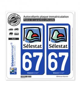 67 Sélestat - Agglo | Autocollant plaque immatriculation
