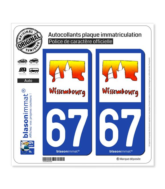67 Wissembourg - Tourisme | Autocollant plaque immatriculation