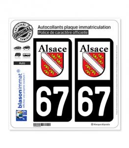 67 Alsace - LogoType | Autocollant plaque immatriculation