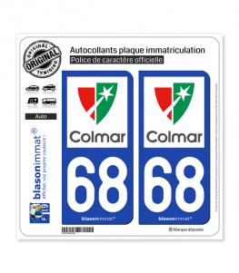 68 Colmar - Ville | Autocollant plaque immatriculation