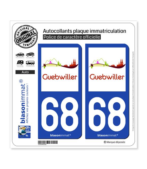 68 Guebwiller - Tourisme | Autocollant plaque immatriculation