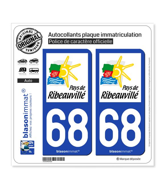 68 Ribeauvillé - Agglo | Autocollant plaque immatriculation