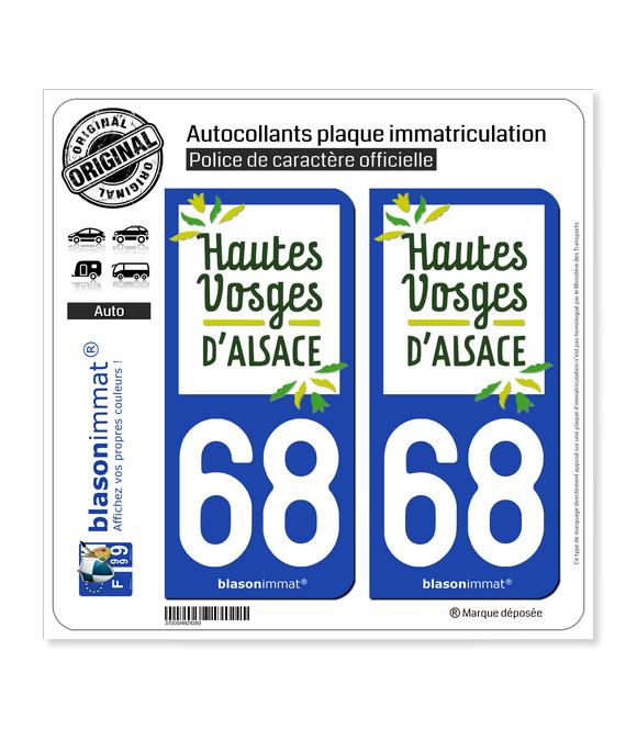 68 Thann - Tourisme | Autocollant plaque immatriculation