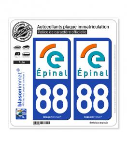 88 Épinal - Ville | Autocollant plaque immatriculation