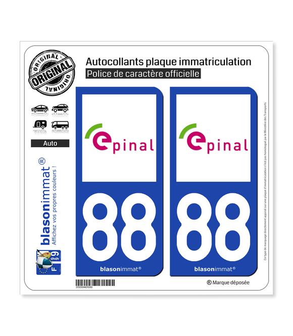 88 Épinal - Tourisme | Autocollant plaque immatriculation