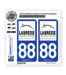 88 La Bresse - Tourisme | Autocollant plaque immatriculation