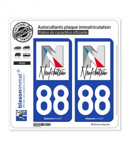 88 Neufchâteau - Ville | Autocollant plaque immatriculation
