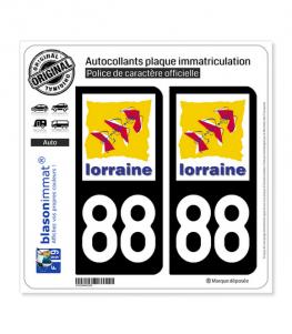 88 Lorraine - LogoType | Autocollant plaque immatriculation