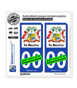 Île Maurice - Armoiries | Autocollant plaque immatriculation