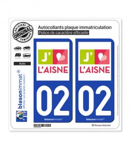 02 Aisne - Tourisme | Autocollant plaque immatriculation