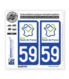 59 Hauts-de-France - LogoType | Autocollant plaque immatriculation