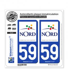 59 Nord - Tourisme | Autocollant plaque immatriculation
