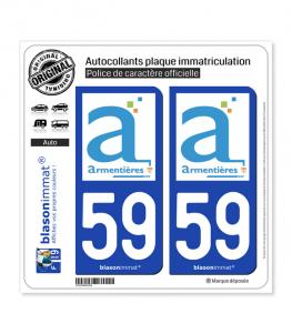 59 Armentières - Ville | Autocollant plaque immatriculation