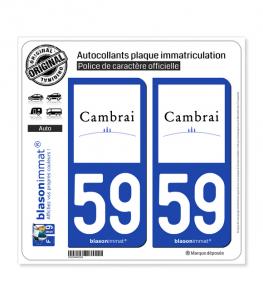 59 Cambrai - Ville | Autocollant plaque immatriculation