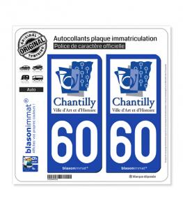 60 Chantilly - Ville | Autocollant plaque immatriculation