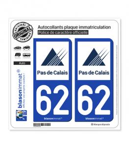 62 Pas-de-Calais - Département | Autocollant plaque immatriculation